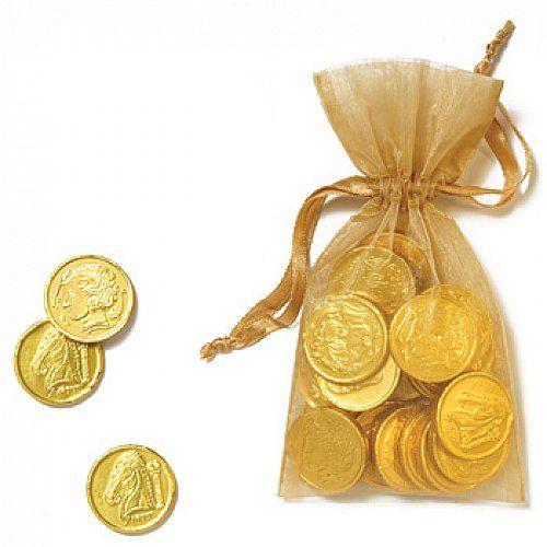 Гаманець із золотими монетами